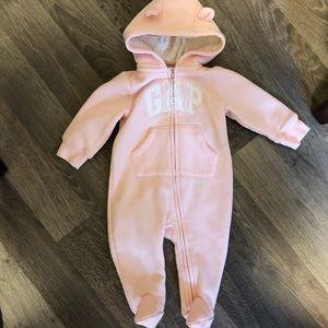 Blush pink baby gap bodysuit